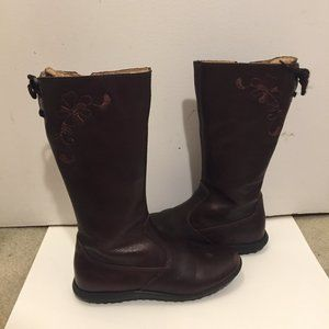 Girls Naturino leather brown boots